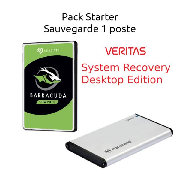Pack Starter 1 PC sauvegarde données et système Veritas System Recovery Desktop Edition
