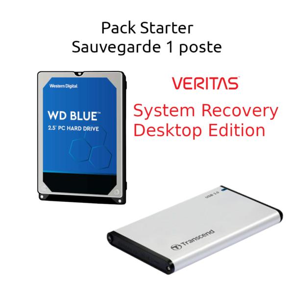 Pack Starter Western Digital Sauvegarde 1 poste